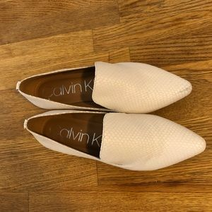 Calvin Klein Shoes - Calvin Klein white textured flats